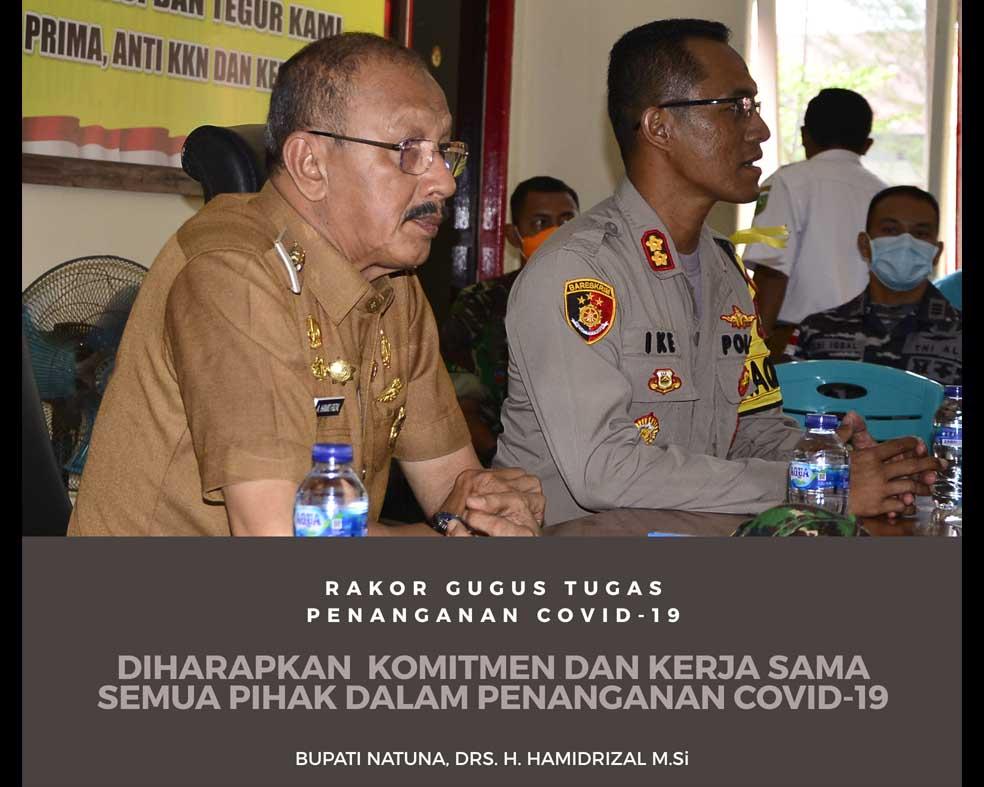You are currently viewing Bupati Natuna Hadiri Rakor Satgas Penanganan COvid-19