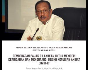 Read more about the article Pemda Natuna Bebaskan 10% Pajak Rumah Makan, Restoran dan Hotel