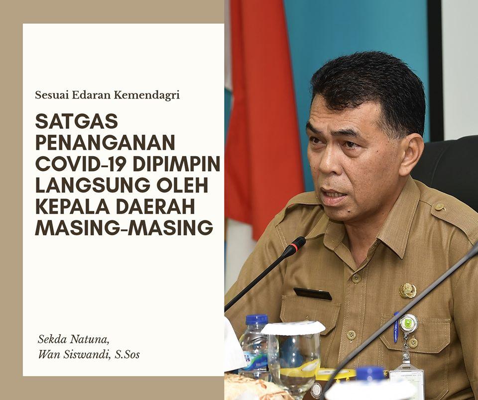 Sekda Natuna Pimpin Rapat Pencegahan dan Penanganan Covid-19