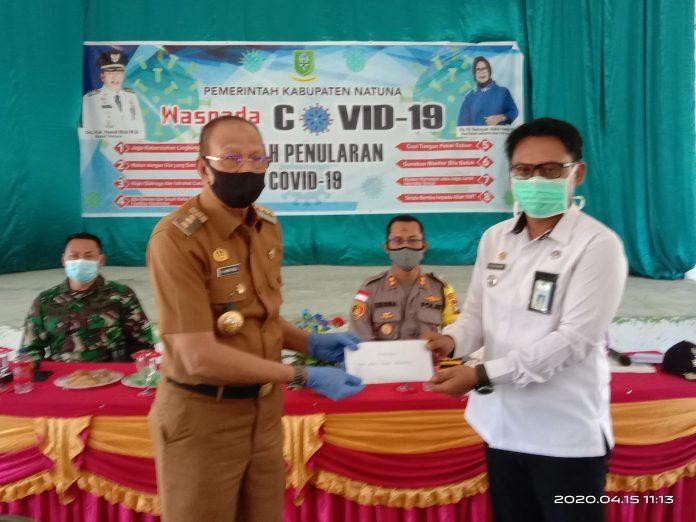 Di Sedanau, Bupati Ingatkan Tim Gugus Kecamatan, Untuk Selalu Terapkan Protokol Kesehatan