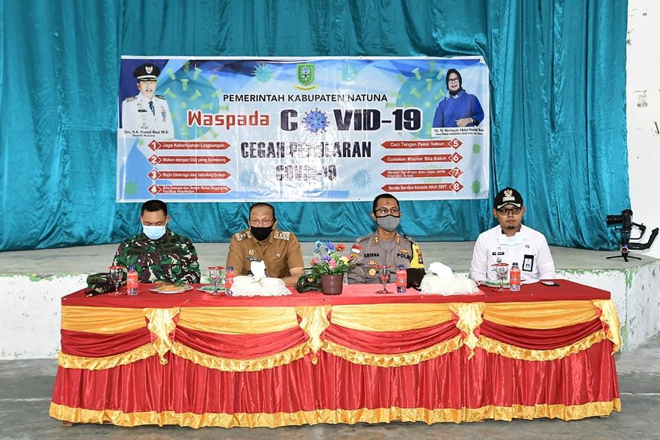 You are currently viewing Kunker ke Bunguran Barat, Bupati Natuna Ingatkan Serangan Covid-19 Tidak Pandang Bulu