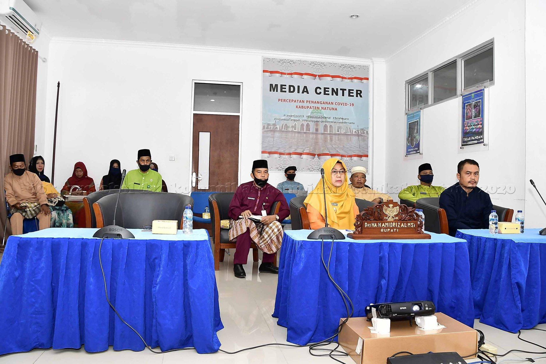 Wabup Natuna gelar Video Conference Persiapan Pilkada Bersama Menkopolhukam, Mendagri